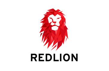 RedLion Head Logo Design Illustration