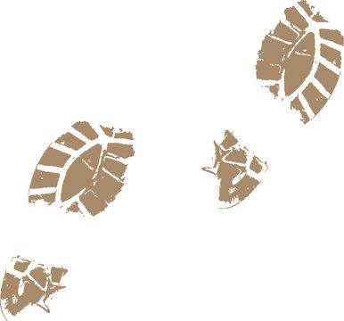 Muddy Footprints Vector