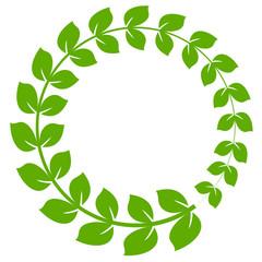 ローリエ 葉 緑 アイコン