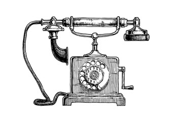 Typical telephone end of XVIII century
