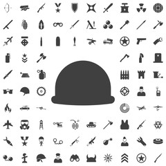 Soldier helmet icon