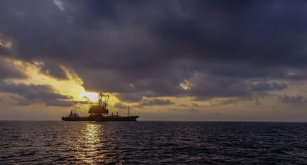 Offshore Platform Silhouette