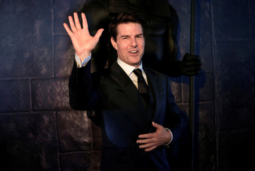 """Actor Cruise poses while promoting his latest film """"The Mummy"""" at Plaza Carso in Mexico City"""