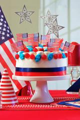 USA national holiday celebration party table