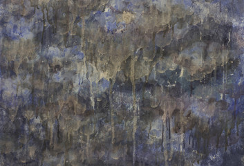 Dark drey and blue wooden textured background with drops