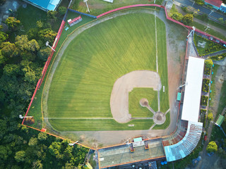 Above view on baseball field