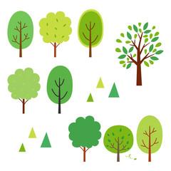 Summer green trees.