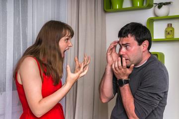 Couple having argument - family quarrel concept