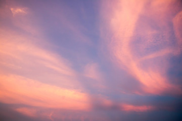 Beautiful cloud sky background in twilight color