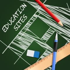 Education Websites Shows Learning Sites 3d Illustration