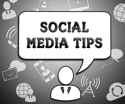 Social Media Tips Means Networking Advice 3d Illustration