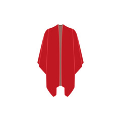 Mexican poncho on white background. Isolated graphic vector illustration icon in flat style.