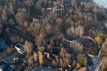 Vue aérienne du Parc Astérix au repos - 60