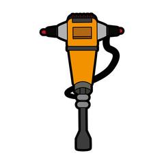 jackhammer heavy machinery icon image vector illustration design