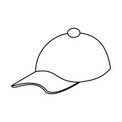 baseball hat icon image vector illustration design  black line