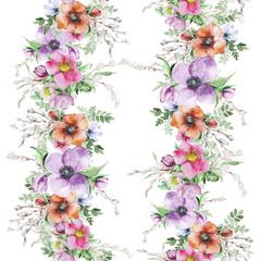 Watercolor flower print