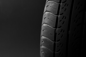 Car tire isolated