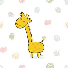 Cute giraffe print for kids