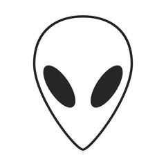 Alien, ufo  face outline vector symbol icon design.