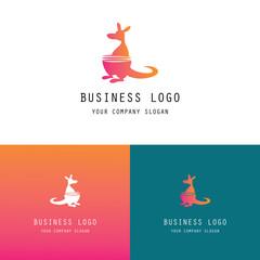 kangaroo abstract logo