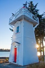 Modern light house at Timaru, New Zealand