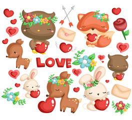 woodland animal love