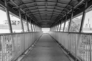 Old grunge foot bridge or overpass
