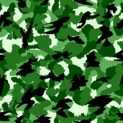 Forest green war camouflage seamless pattern. Can be used for wallpaper, pattern fills, web page background, surface textures