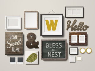 beautiful photo frames and deco