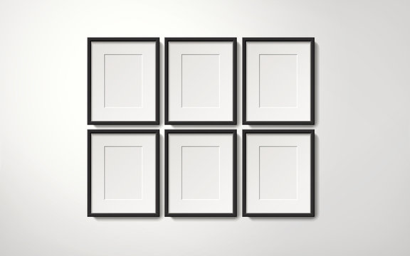 Orderly picture frames collection