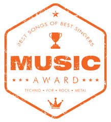 Music Award stamp