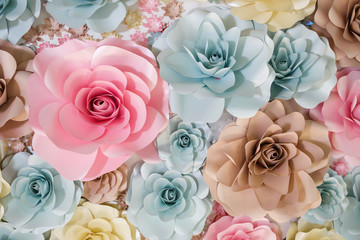 Luxurious garland of paper flowers