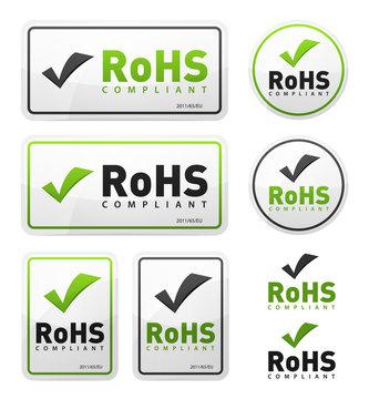 RoHS Compliant Icons Set