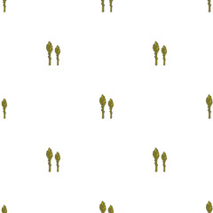 Asparagus hand drawn on white background. Hand drawn seamless or
