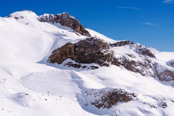 Alpen im Winter, Skigebiet Ischgl, Tirol