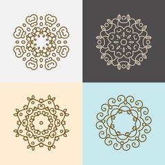 Modern stylish logo elements