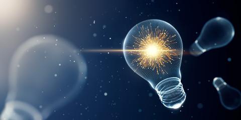 Light bulb with sparks