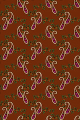 Flower textile pattern with shawl