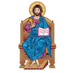 jesus on throne color