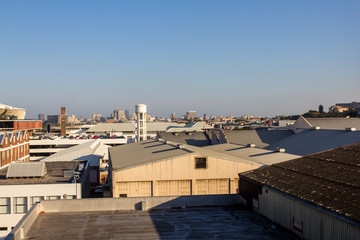 Durban, South Africa industrial cityscape factory rooftops 2