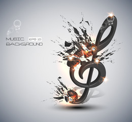 Music Note Melody Background