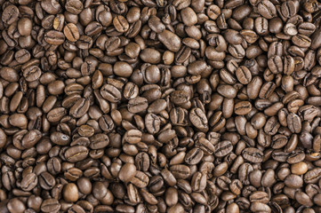 Coffee beans backround or texture close up