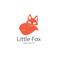 Fox logotype. Cute fox logo