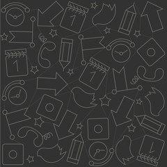 Vector background ornament, tile, success, first place, communication, social networks, gray and white
