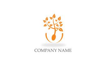 food nature eco tree logo