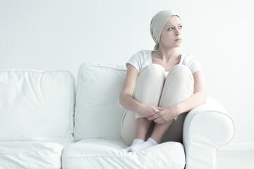 Woman with leukemia