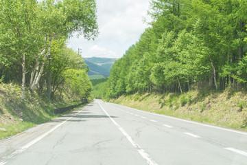 長野県の山間道路