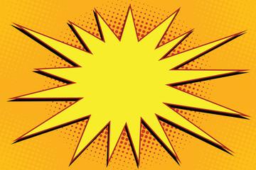 Pop art comic splash orange