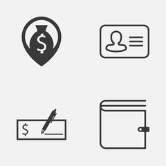 Human Icons Set. Collection Of Bank Payment, Wallet, Money Navigation And Other Elements. Also Includes Symbols Such As Personal, Pin, Purse.