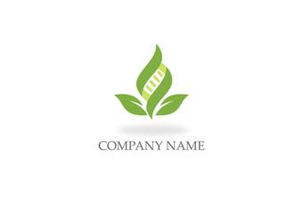 green leaf DNA organic logo